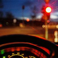 Avançar o sinal vermelho do semáforo 1